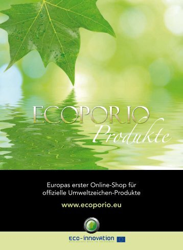 ECOPORIO Katalog - Ecolabel-Products