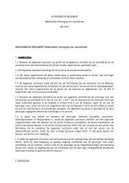 HUISHOUDELIJK REGLEMENT Nederlandse Vereniging van ... - NVJ