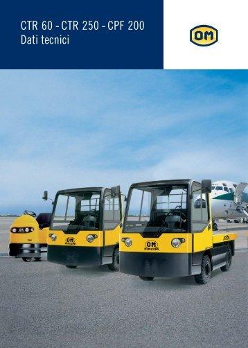 CTR 60 - CTR 250 - CPF 200 Dati tecnici