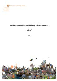 e-brief 'Businessmodel innovatie in de culturele sector' - Kennisland