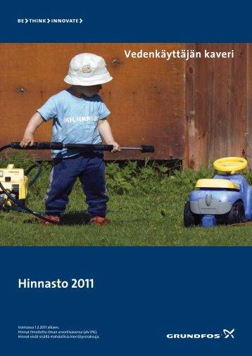 Grundfos hinnasto 2011 - Sähkökonekorjaus Pursiainen Oy