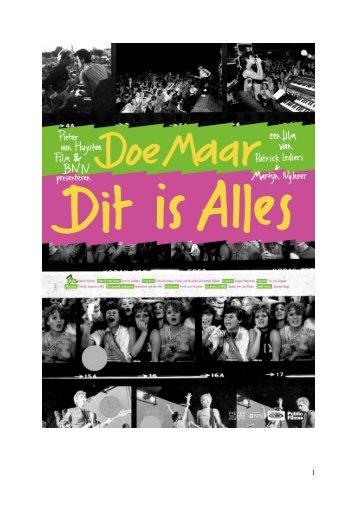 bekijk hier de persmap - Pieter van Huystee Film