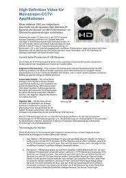 High Definition Video für Mainstream-CCTV ... - IndigoVision
