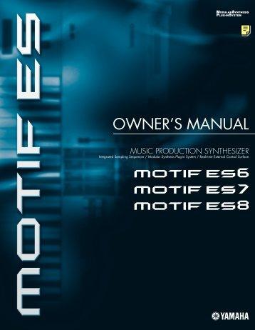 Download the Motif ES Owner's Manual - Motifator.com