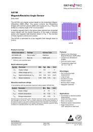 AA746 MagnetoResistive Angle Sensor - Sensitec