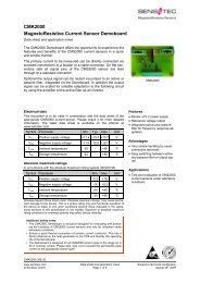 CMK2000 MagnetoResistive Current Sensor Demoboard - Sensitec