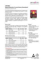 CDK4000 MagnetoResistive Current Sensor Demoboard