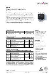 AA747 MagnetoResistive Angle Sensor