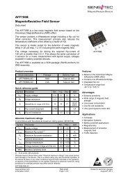 AFF755B MagnetoResistive Field Sensor - Sensitec