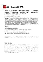 Uso do Spreadsheet Calc Robot™ Structural Ana ... - Autodesk