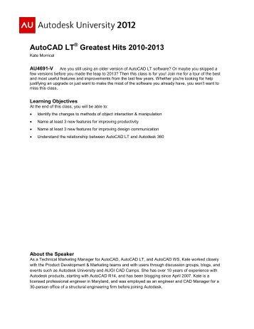 AutoCAD LT Greatest Hits 2010-2013