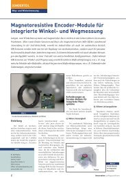 Magnetoresistive Encoder-Module für integrierte Winkel ... - Sensitec