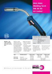 MIG/MAG Welding Torch MB 36 KD air-cooled - TREA TRADE d.o.o.