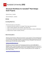 Structural Workflows for Autodesk Plant Design Suite Projects