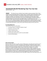 Autodesk® Revit® Rendering Tips You Can Use
