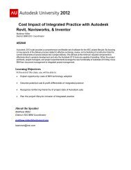 Cost Impact of Integrated Practice with Autodesk Revit Navisworks & Inventor