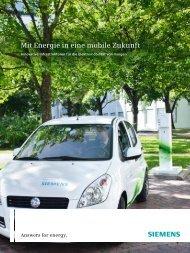 Answers for energy. Mit Energie in eine mobile Zukunft  - Siemens
