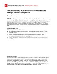 Troubleshooting Autodesk® Revit® Architecture Using a Support Perspective