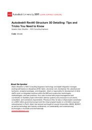 Autodesk® Revit® Structure 3D Detailing Tips and Tricks You Need to Know
