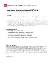 Mechanical Simulation in AutoCAD 2012
