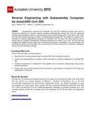 Reverse Engineering with Subassembly Composer for AutoCAD® Civil 3D®