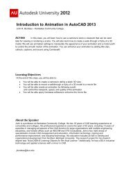 Introduction to Animation in AutoCAD 2013 - Autodesk