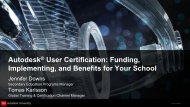 Autodesk User Certification Funding Implementing and Benefits for Your School