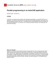 Parallel programming in an AutoCAD application - Autodesk