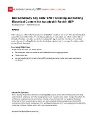 Did Somebody Say CONTENT? Creating and Editing ... - Autodesk