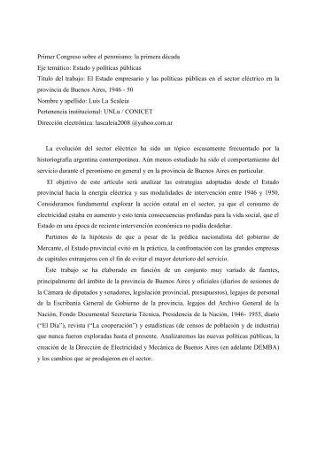 El Estado empresario y las políticas públicas en - Red de estudios ...