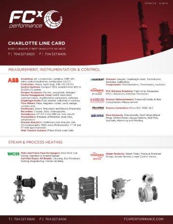 Charlotte Line Card - FCX Performance
