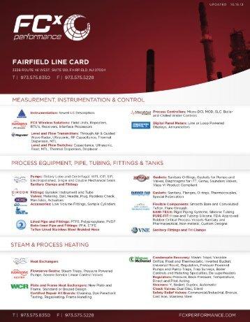 Fairfield Line Card - FCX Performance