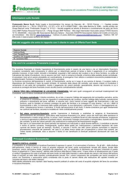 Area Findomestic Leasing Clienti Imprese OXikTPwZu