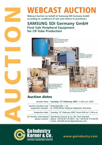 WEBCAST AUCTION