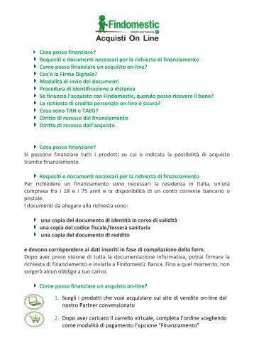 Documenti Per Findomestic Fabulous Findomestic Banca Corso Sempione