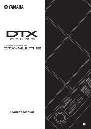 DTX-MULTI 12 Owner's Manual - zZounds.com