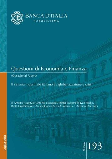 Il sistema industriale italiano tra globalizzazione ... - Fondazione Pirelli