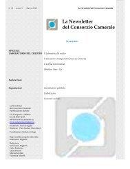 Newsletter - Consorzio Camerale per il Credito e la Finanza