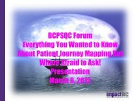 BCPSQC Forum Everything You Wanted to Know About Patient Journey ...