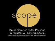 Safer Care for Older Persons (in residential) Environments--