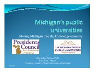 Moving Michigan into the knowledge economy