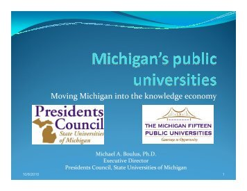 Moving Michigan into the knowledge economy