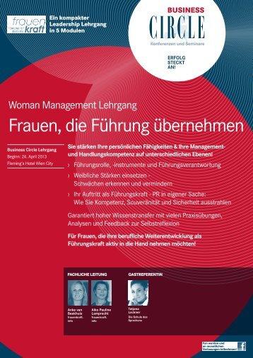 Frauen die Führung übernehmen