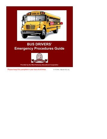 Bus Drivers Emergency Procedures Guide - Graves County Schools