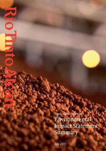 EIS Summary document - Rio Tinto Alcan