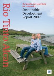 Sustainable Development Report 2007 - Rio Tinto Alcan