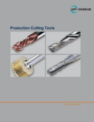 Onsrud Production Cutting Tool Catalog