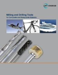 Milling and Drilling Tools for Composite and Honeycomb Materials