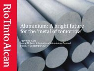 Metal Bulletin International Aluminium Conference ... - Rio Tinto Alcan