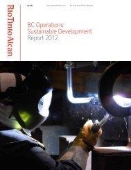2012 British Columbia Sustainable development ... - Rio Tinto Alcan